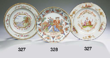 A rare Dutch-decorated saucer