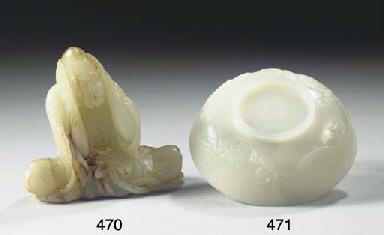 A white jade shallow bowl