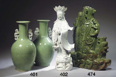 A large nephrite carving of dr