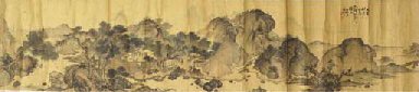 Two hand scroll paintings