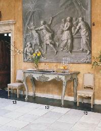 A SET OF SIX ITALIAN CREAM-PAI