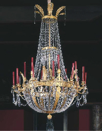 A FRENCH ORMOLU AND GLASS EIGH
