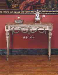 A PAIR OF ITALIAN PAINTED PIER