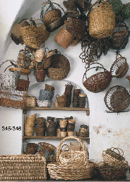 A COLLECTION OF WICKER BASKETS