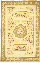 A Europiean needlepoint carpet