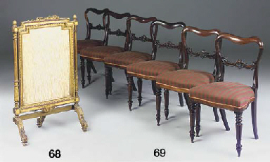 A SET OF EARLY VICTORIAN ROSEW