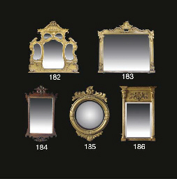 A MID VICTORIAN GILTWOOD OVERM