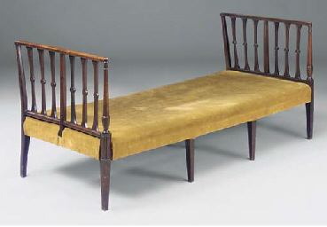 A mahogany day bed