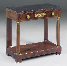 A French Empire mounted mahoga