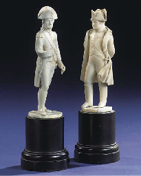 A PAIR OF 19TH-CENTURY IVORY F