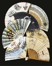 A COLLECTION OF FANS FROM ORIE