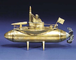 A RARE SAILOR'S-ART MODEL OF U