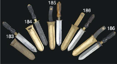 TWO DIVER'S KNIVES BY SIEBE GO