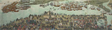 The encampment of the English