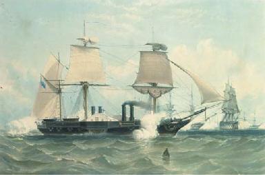 H.M. war steam frigate the Ter