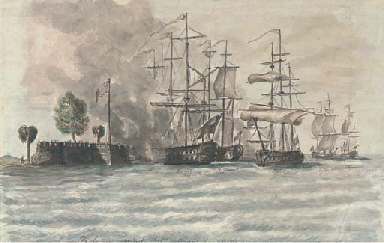 The battle for Fort Sullivan,