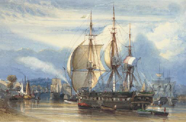 The French merchant frigate Ch