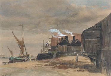 Harwich old harbour, low water