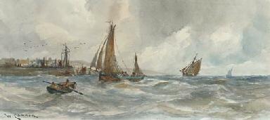 Fishing boats returning to har