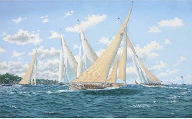J-class yachts jockeying for p