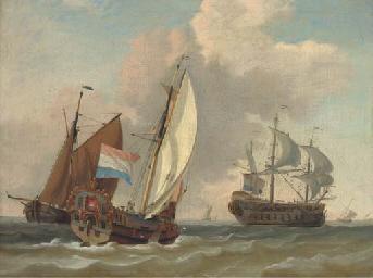 A Dutch Admiralty yacht runnin
