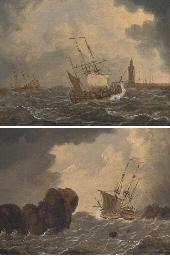 A Dutch warship running into h