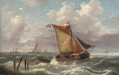 A Dutch smalschip running into