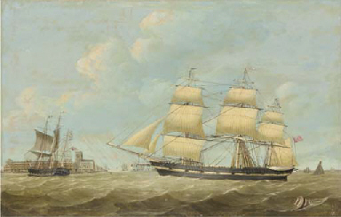 The whaling ships Jane and Har