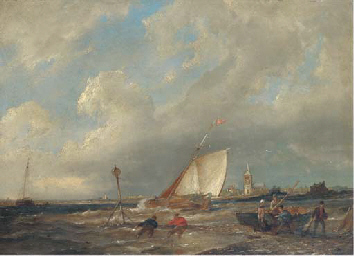 A blustery day on the Scheldt
