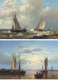 Fishing boats on the Scheldt;