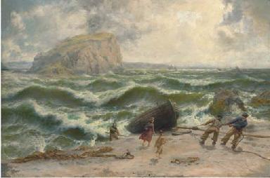 Wind and sea rising. Knock-na