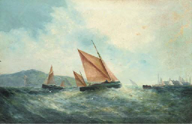 The fishing fleet off the harb