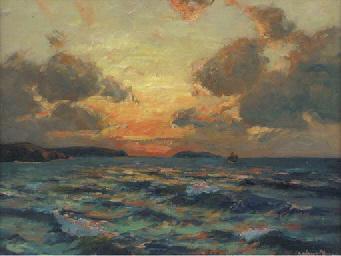 The coast at dusk