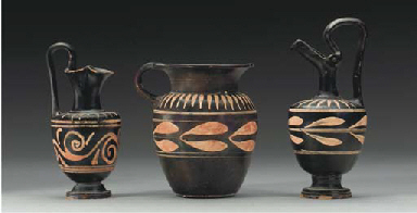 THREE APULIAN XENON WARE VESSE