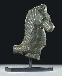 A GREEK BRONZE HORSE PROTOME