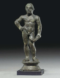 AN ETRUSCAN BRONZE ATHLETE