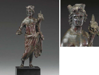 A ROMAN BRONZE CIVIC GOD or GE