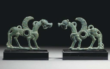 A PAIR OF LURISTAN BRONZE CHEE