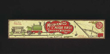 An empty  Meccano 'Mechanics M