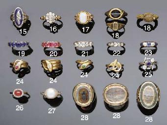 Three antique rings,