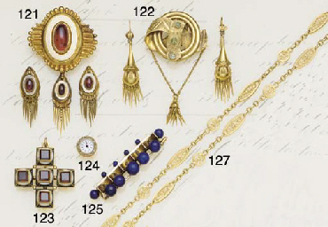 A 19th century gold and emeral