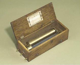 A key-wind musical box