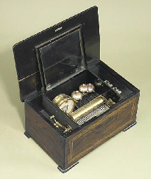 A musical box playing  eight a