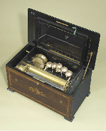 A drum and bells musical box,