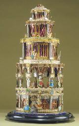 A fine five-tiered decorative