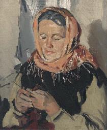 A Galway Connemara Woman, Knit