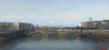 The Four Courts and Liffey, Du