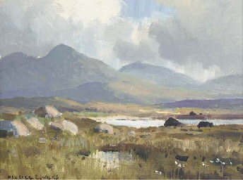 A Connemara Landscape near Rou