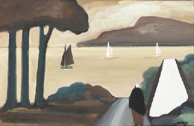 Yachts off the coast