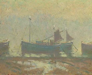 Fishing boats in the early mor